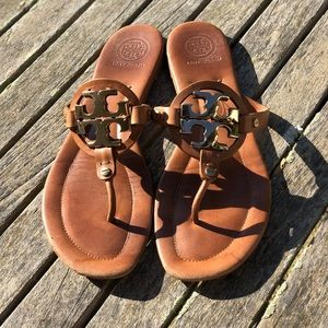 """Tory Burch brown leather """"Miller"""" sandals"""